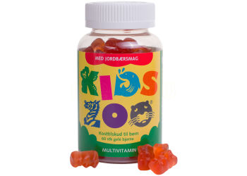 Kids Zoo Multivitamin m. Jordbærsmag