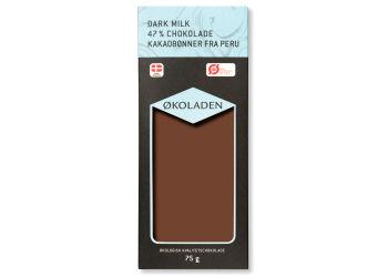Økoladen Chokolade mørk mælk 47% Ø kakaobønner fra Peru