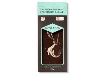 Økoladen Chokolade pebermynte/knas Ø 70%