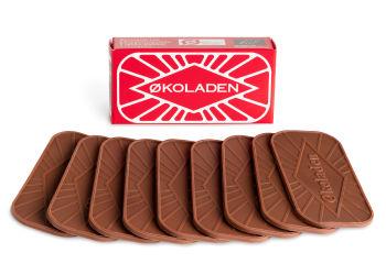 Økoladen Pålægschokolade Lys 9 Stk Ø