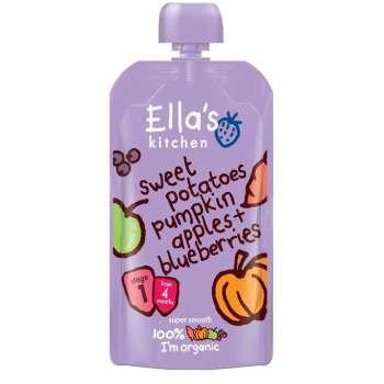 Ellas Kitchen Babymos med Sötpot, Pumpa, Äpple och Blåbär