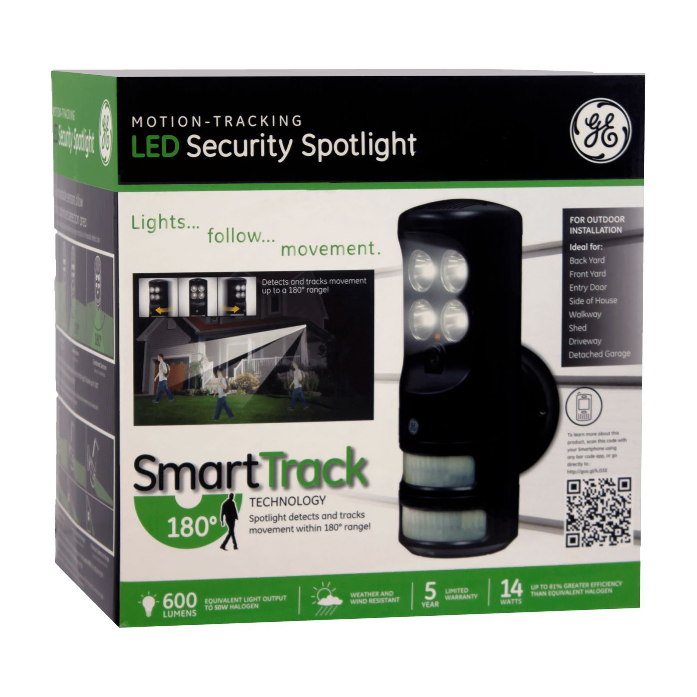 Ge motion tracking led security spotlight mozeypictures Gallery
