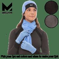 Deals on 2-PK Mission RadiantActive Hat, Scarf, and Gloves Set