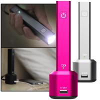 Deals on Rechargeable LED Flashlight With PowerBank and Charging Dock