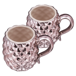 2-Pack: Rose Gold Pineapple Mugs
