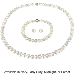 Pacific Pearls Necklace Bracelet and Earring Set
