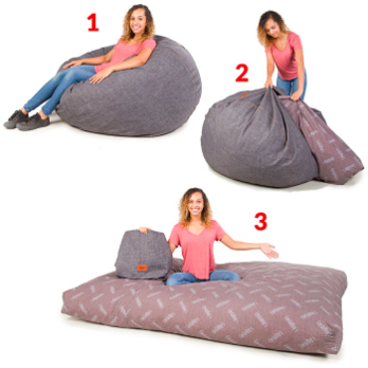 CordaRoys Convertible Bean Bag Chair Full Size Bed