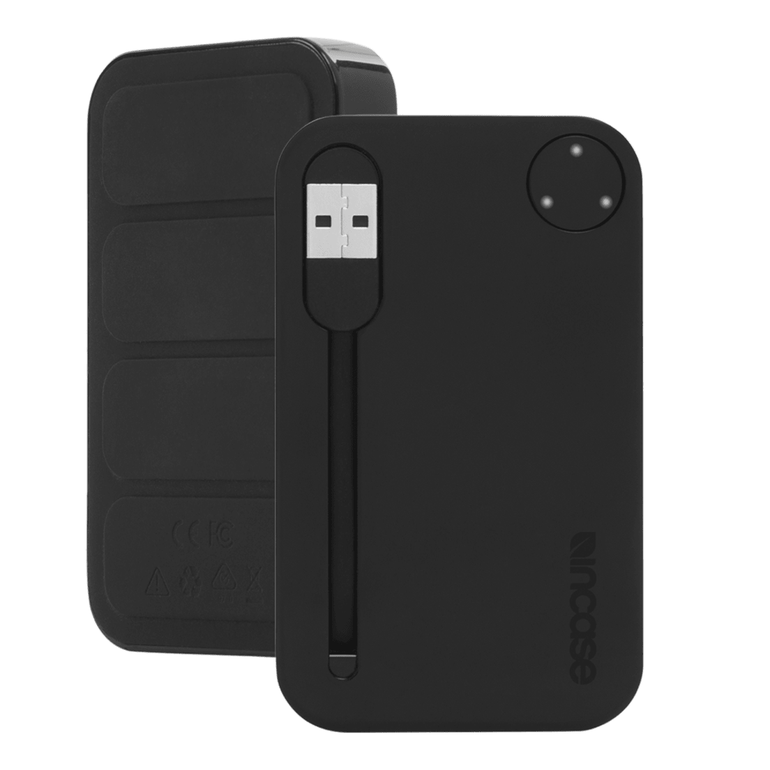 2 Pack Incase 2500mah Portable Power Bank With Integrated Usb Cable
