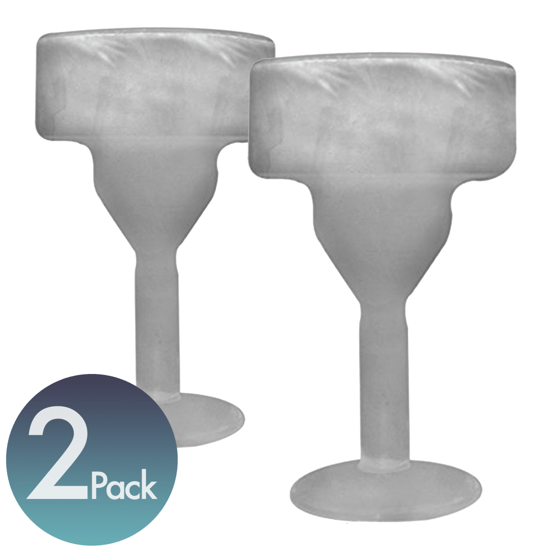2 Pack Amsterdam Freeze Glass Margarita Glasses - Kate-hume-glass-decorations-for-an-apartment-in-moscow