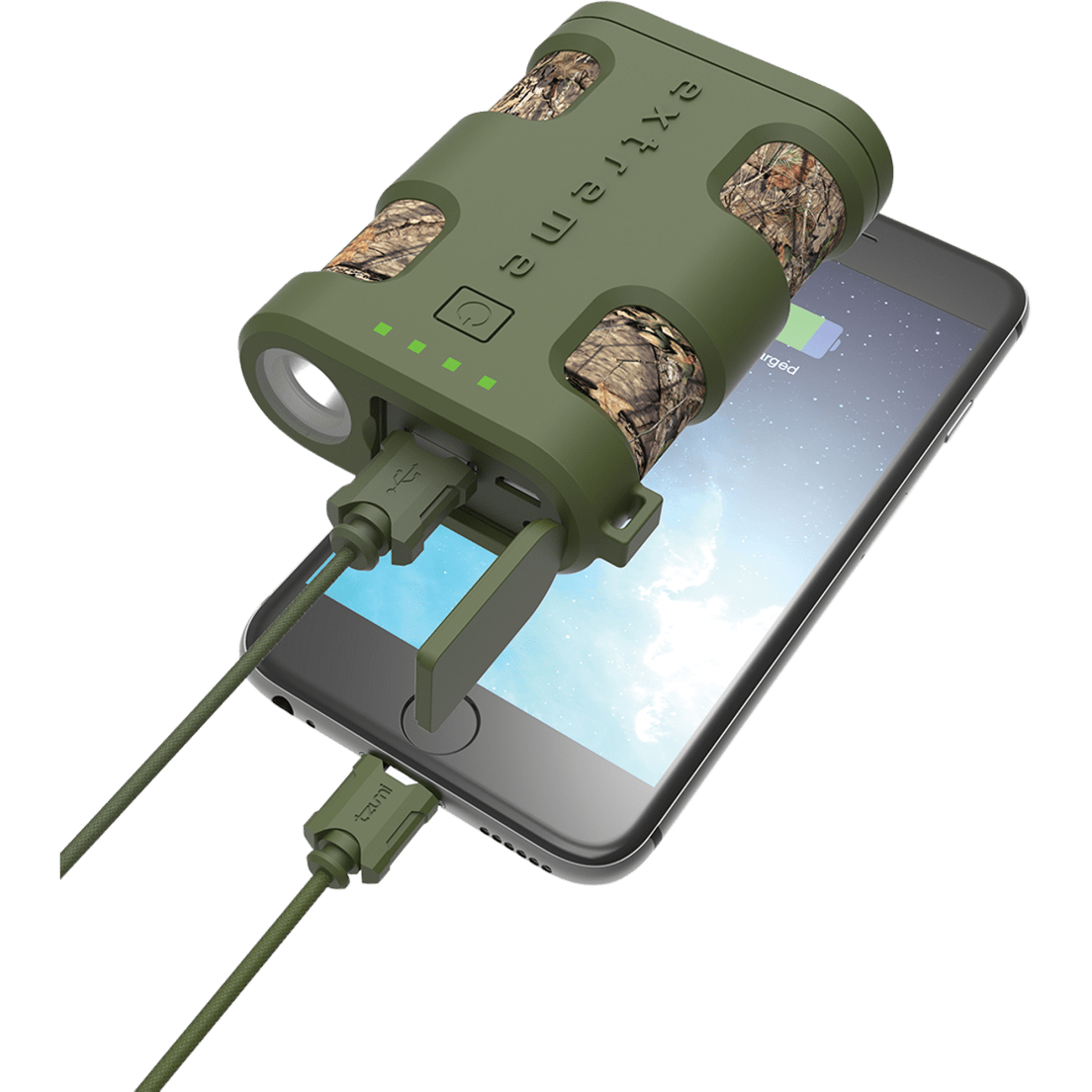 Tzumi Pocketjuice Mossy Oak Extreme 6000mah Portable Charger