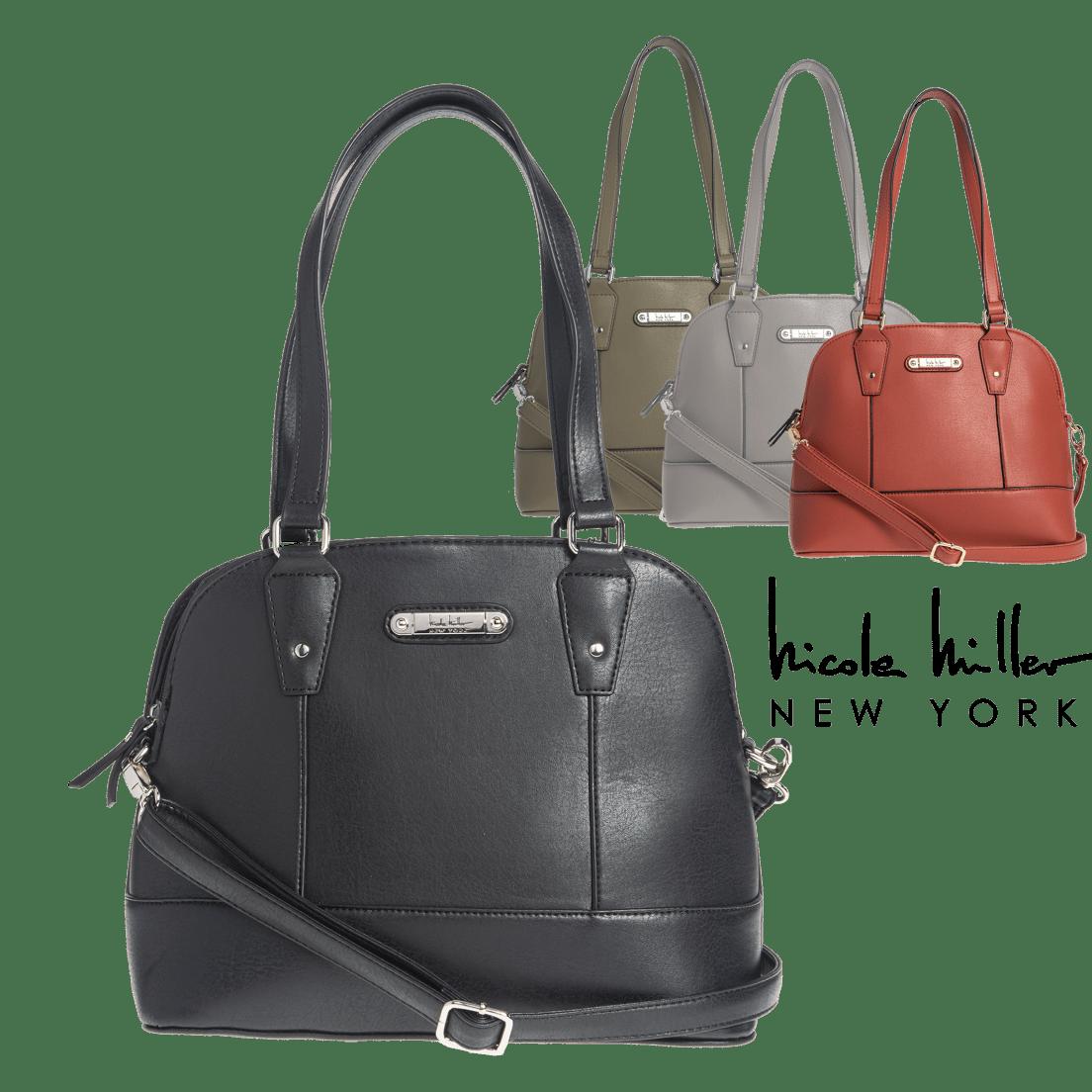 Zahra Satchel Handbag by Nicole Miller New York 3164c58e2a846