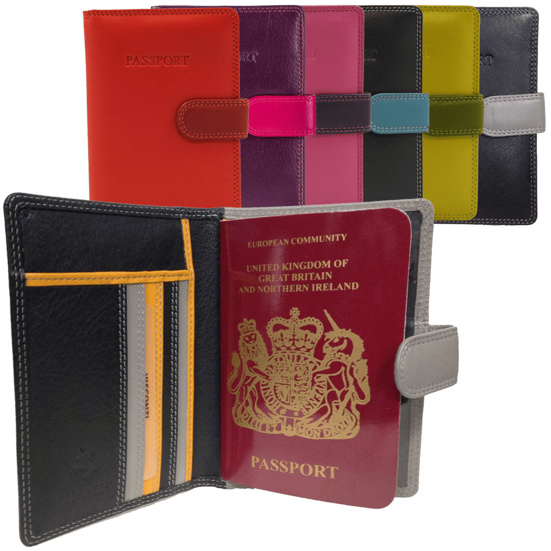 Visconti Rfid Id Theft Protection Leather Passport Wallet W Button Dolly Jims Honey Closure