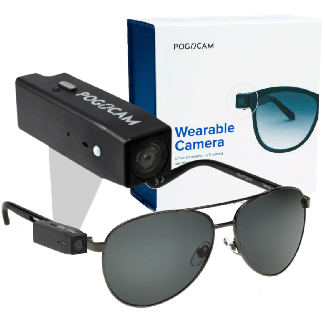 PogoCam Wearable HD Camera with PogoTrack Magnetic Sunglasses a2f2ebb5be
