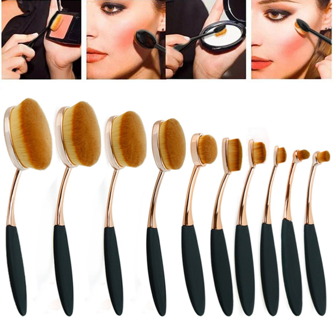 Zoe Ayla Oval Makeup Brushes Review Creativmakeup Co