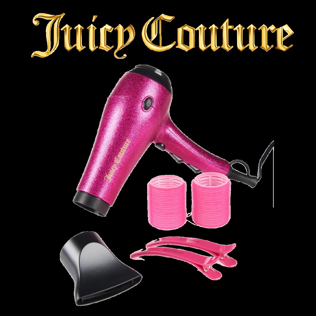 Juicy Couture 6 Piece Glitter Shine Blow Out Hair Dryer Set The Wet Brush Tourmaline Blowout Medium