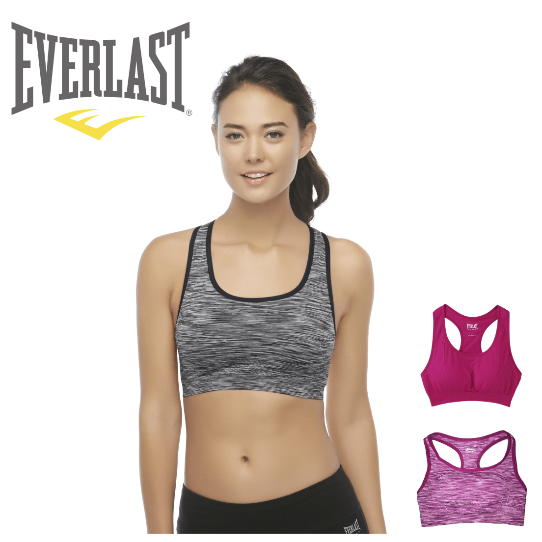 fcace4c598 2-Pack Everlast Padded Racerback Sports Bras