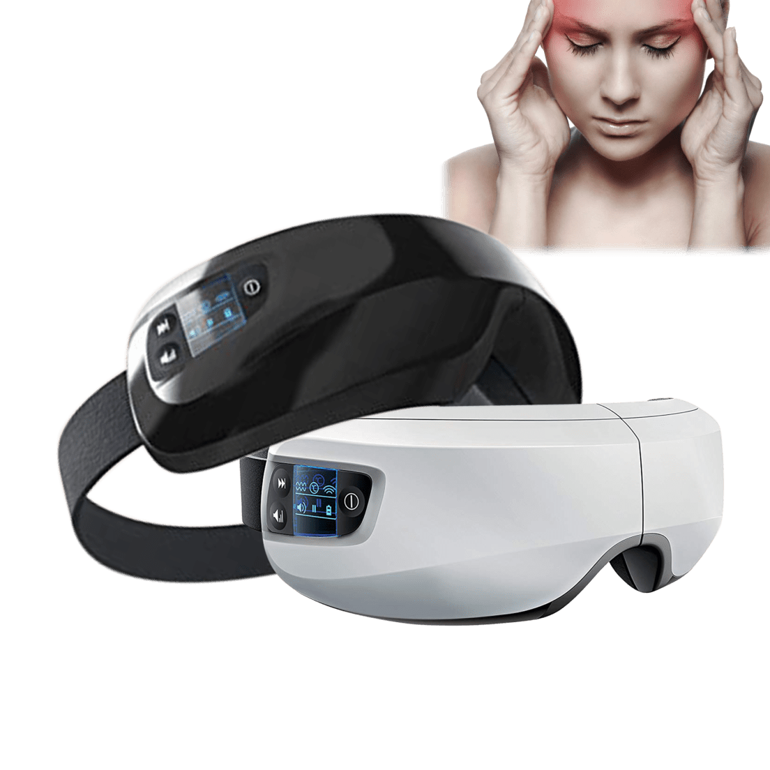 Sharper Image Heated Eye Massager With Soothing Sounds