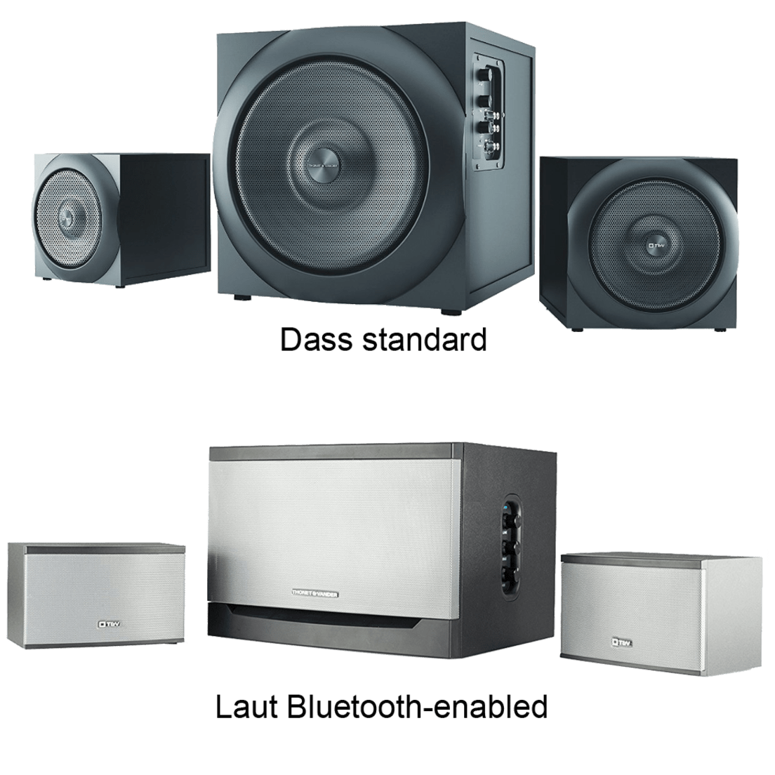 Thonet Vander Dass Laut 21 Speaker Systems Ampamp Kurbis