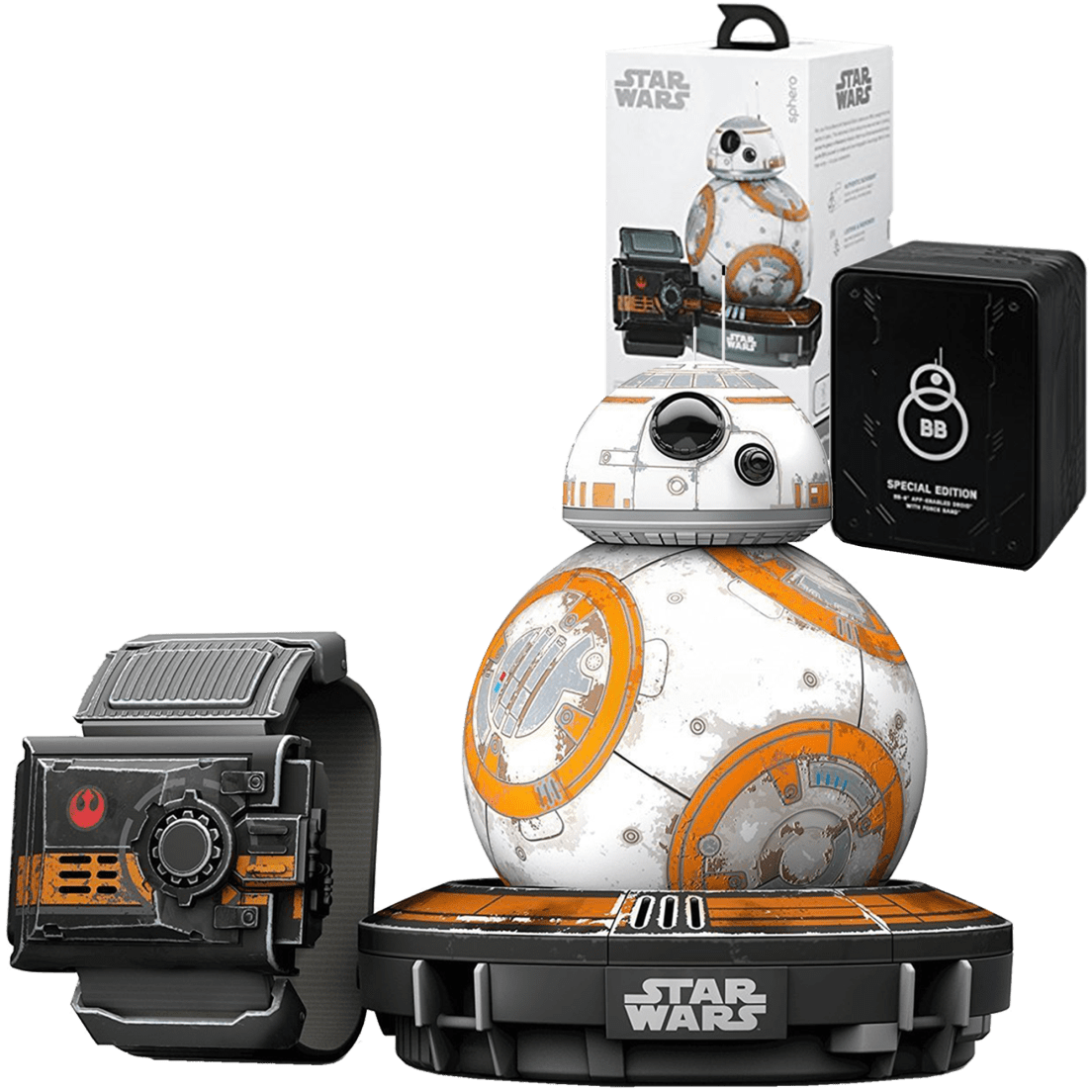 Sphero Special Edition Star Wars Battle Worn BB-8 with Force Band ...