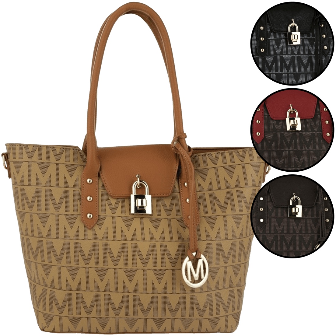 Studded Tote by Milan Imports a856e87de7648