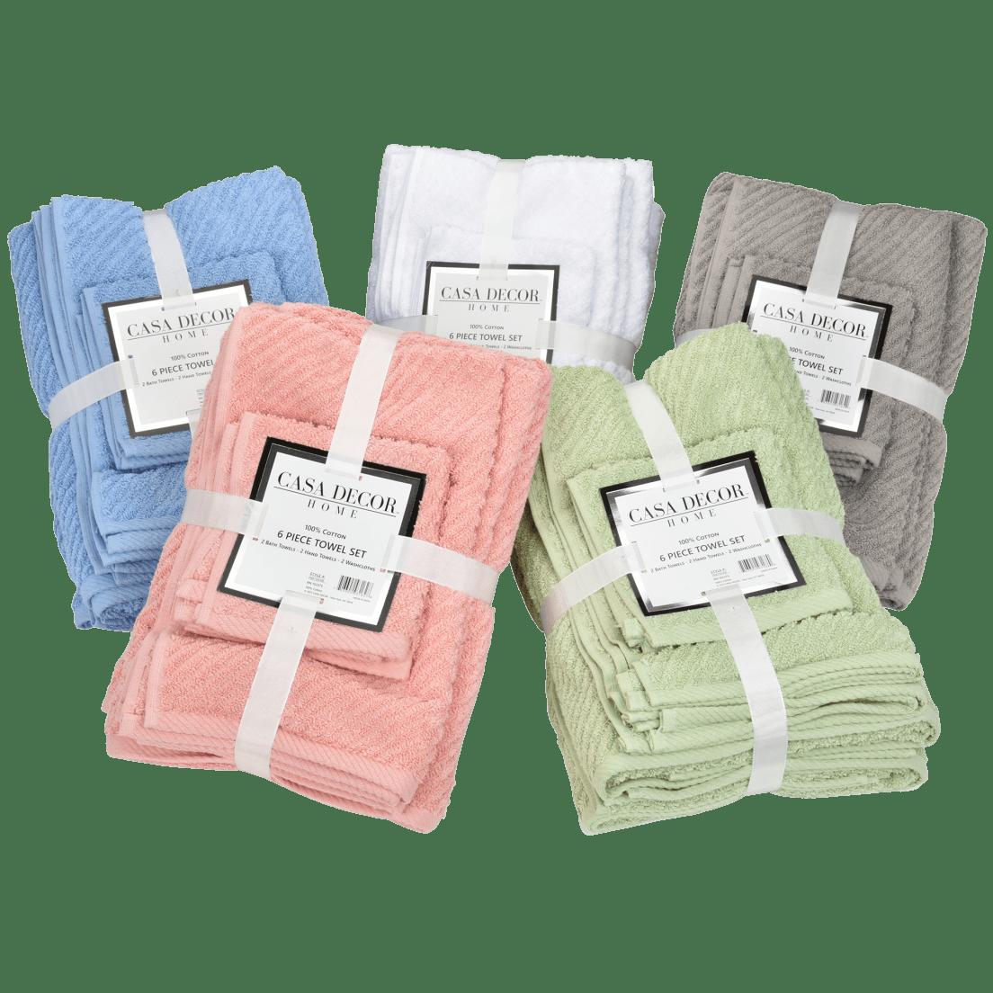 abe621cb0a Casa Decor 6-Piece Towel Set