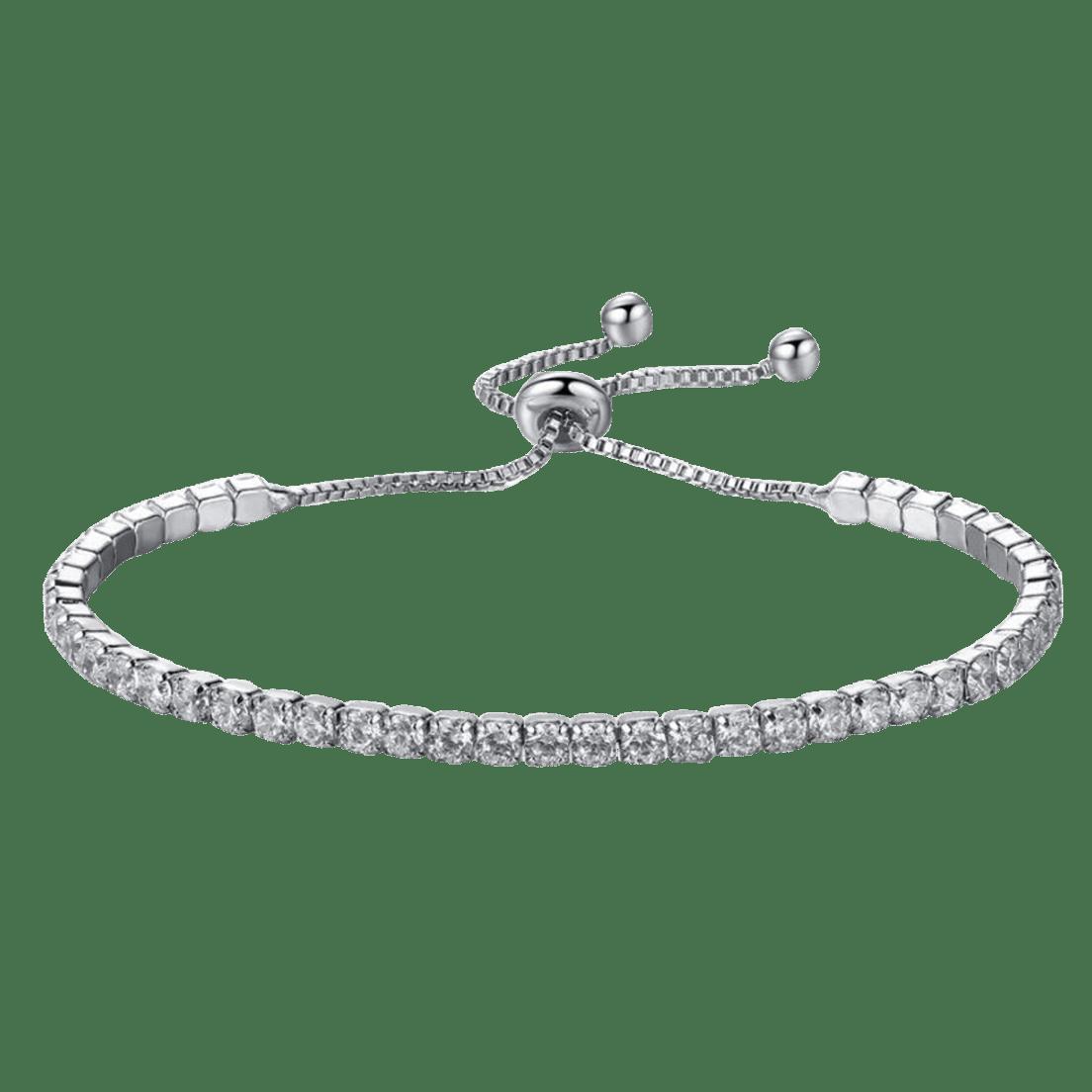 03726fa52d029 Hollywood Sensation Jaime Subtle Single Strand Crystal Bracelet