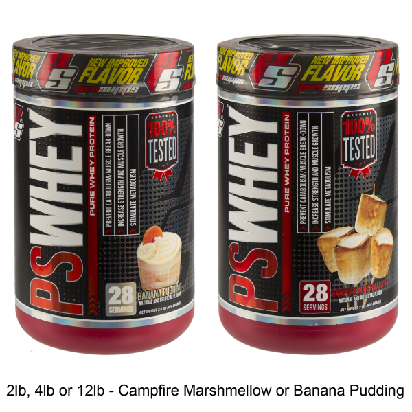 2lb, 4lb, or 12lb of ProSupps PS Whey Protein