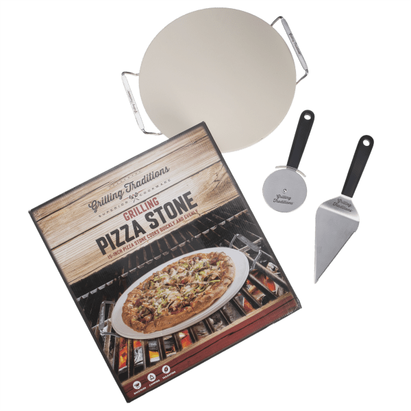 Grilling Traditions 3-Piece Pizza Stone Set