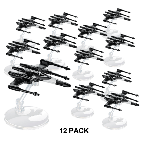 12-Pack: Hot Wheels Star Wars Partisan X-Wing Fighter