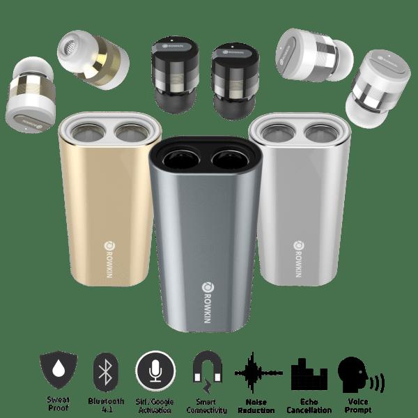 Rowkin Bit Charge Stereo Bluetooth Earbuds