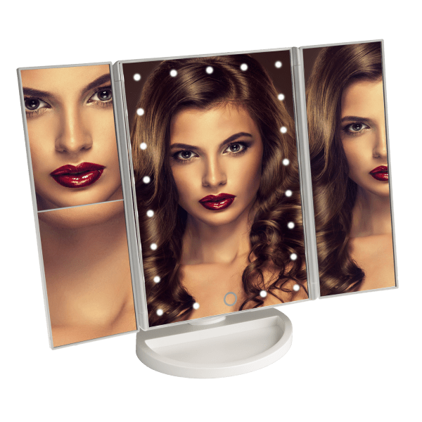 Vivitar Simply Beautiful 21 Led Light Up Trifold Mirror