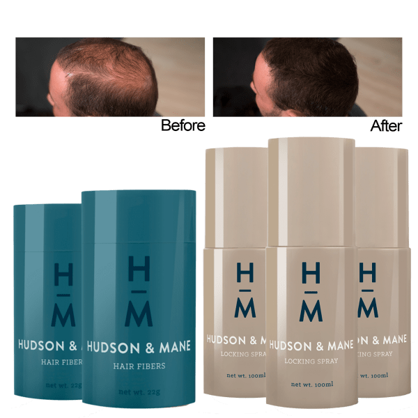 2-Pack: Hudson & Mane Hair Fiber Bundles