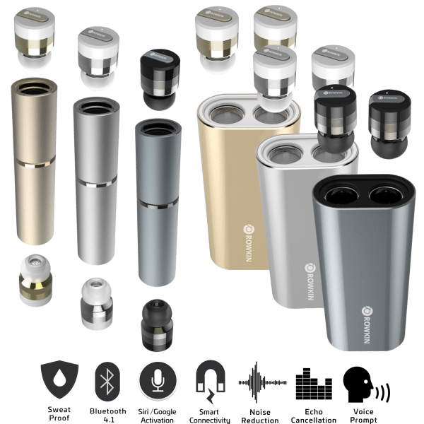 Rowkin Bit Or Bit Charge Stereo True Wireless Bluetooth Earbuds