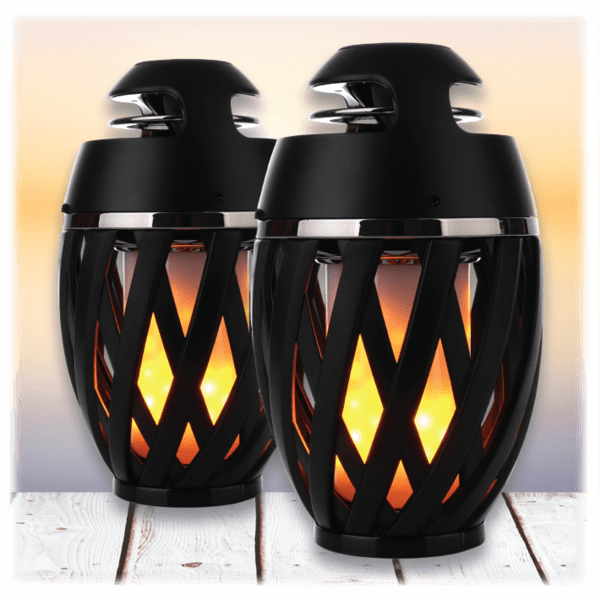 2 Pack Gabba Goods Bluetooth Led Dancing Flame Speakers