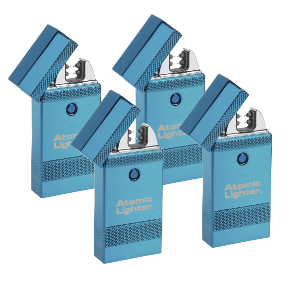 4-Pack: Deluxe Atomic Lighter Rechargeable Plasma Beam Lighters