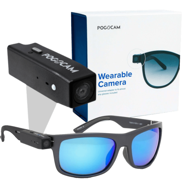 Pogocam Wearable HD Camera with Pogotrack Sunglasses