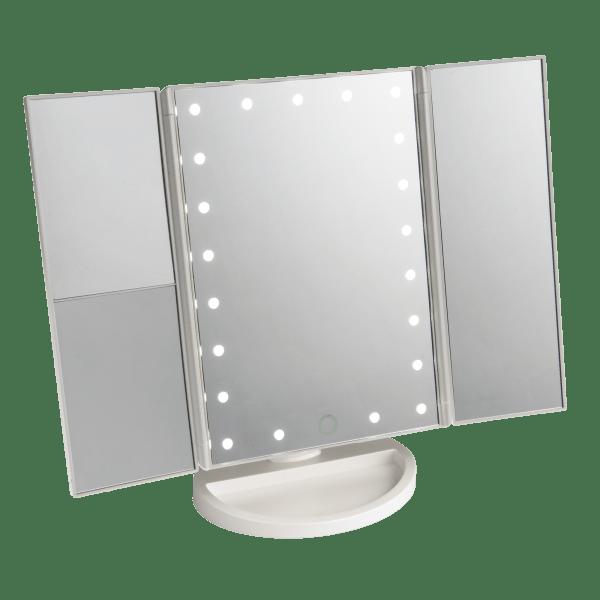 Vivitar Simply Beautiful 21 Led Light Up Trifold Mirror