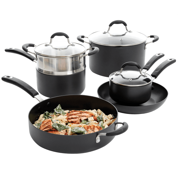 Oster Brawly 10-Piece Non-Stick Anodized Aluminum Cookware