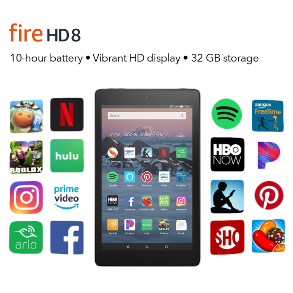 Amazon Fire HD 8 32GB Tablet (7th Gen, New)
