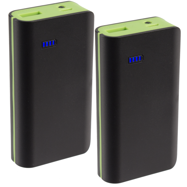 2-Pack: Neo Style 6000 mAh Portable Power Banks