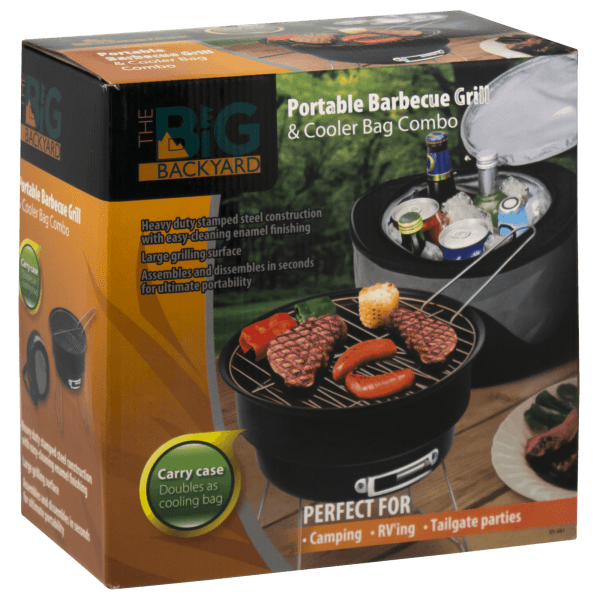 The Big Backyard Portable Barbecue Grill & Cooler Bag