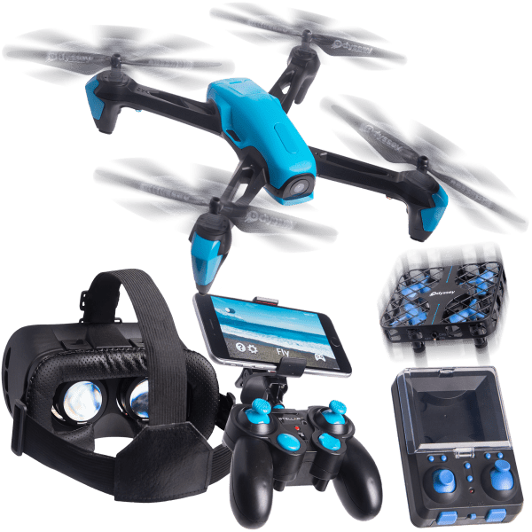 Odyssey Stellar NX Drone Bundle with Mini Drone and VR Headset