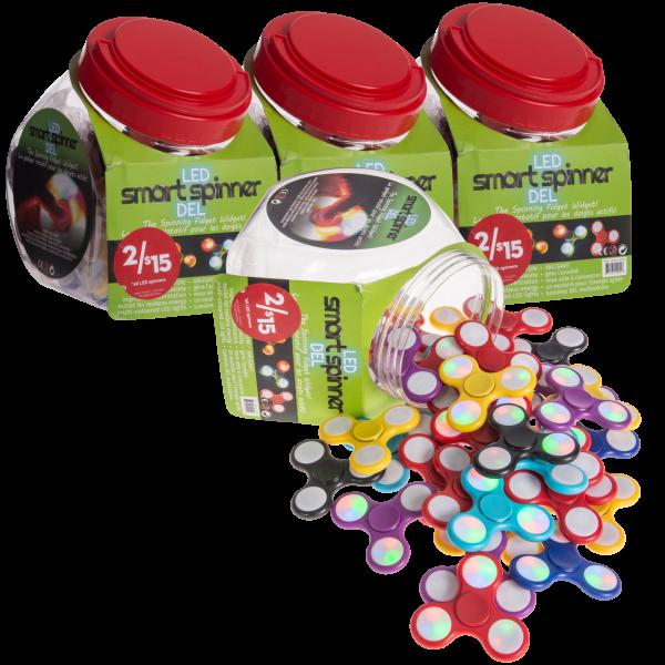 160-Pack Dead LED Fidget Spinners