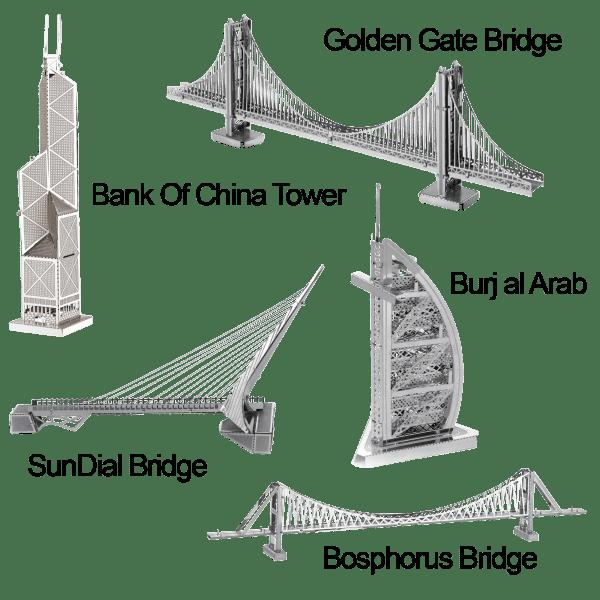 5-Pack: Model Technics Metal Puzzles