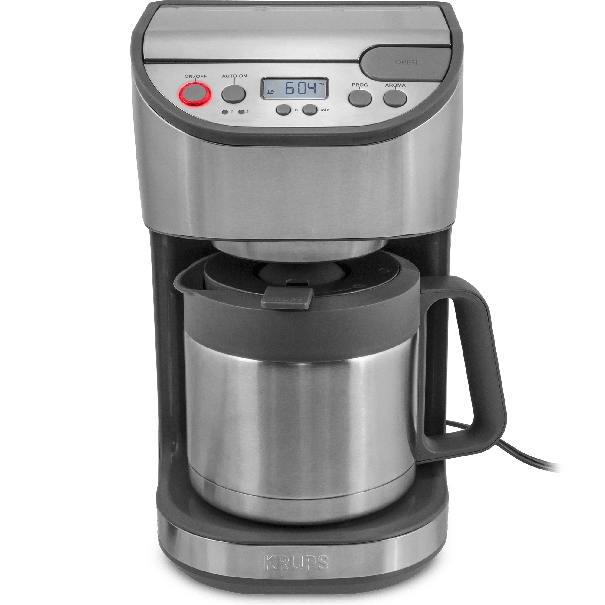 KRUPS Programmable Steel Carafe Coffee Maker (Refurbished)