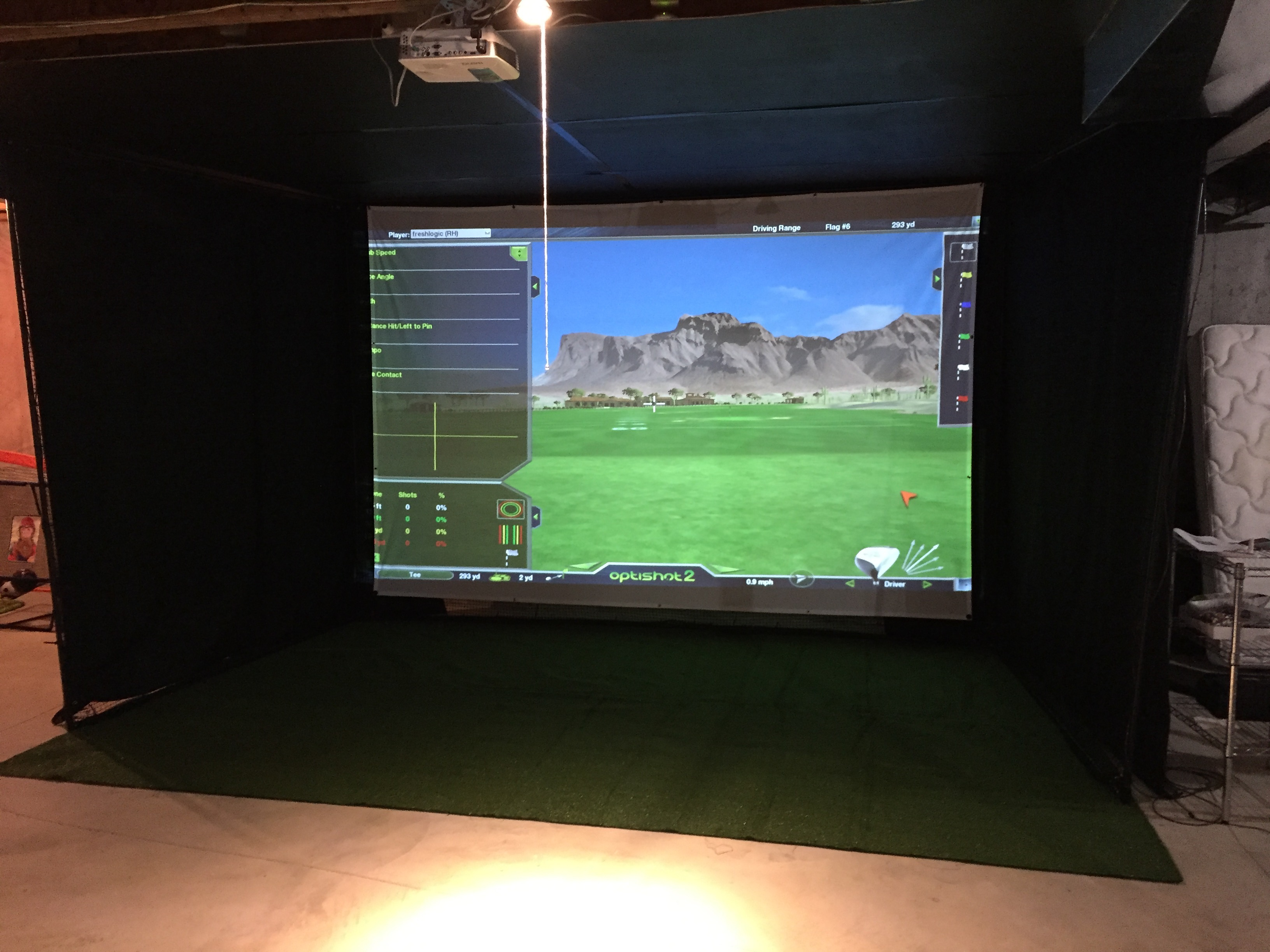 Home Golf Simulator Buildout Wiring Diagrams For A Ceiling Fan And Light Kit Doityourself