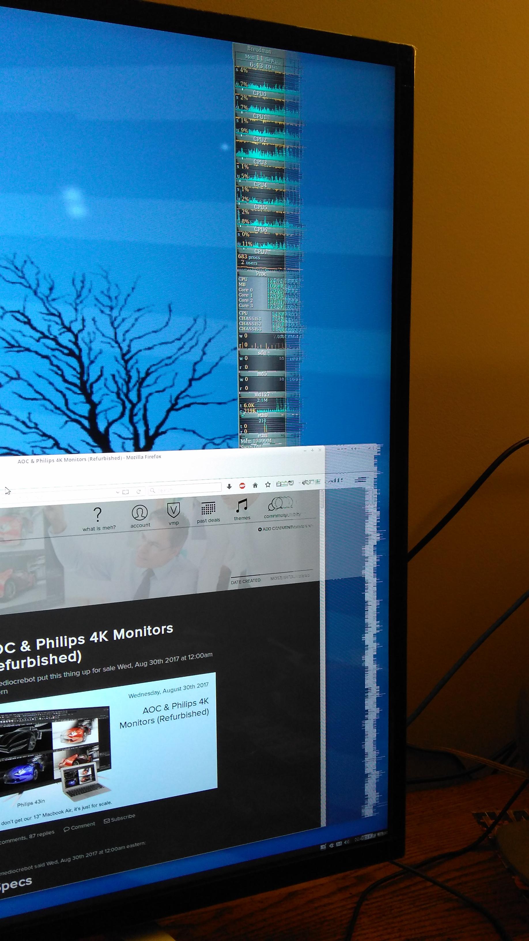 ... cables scrambled display