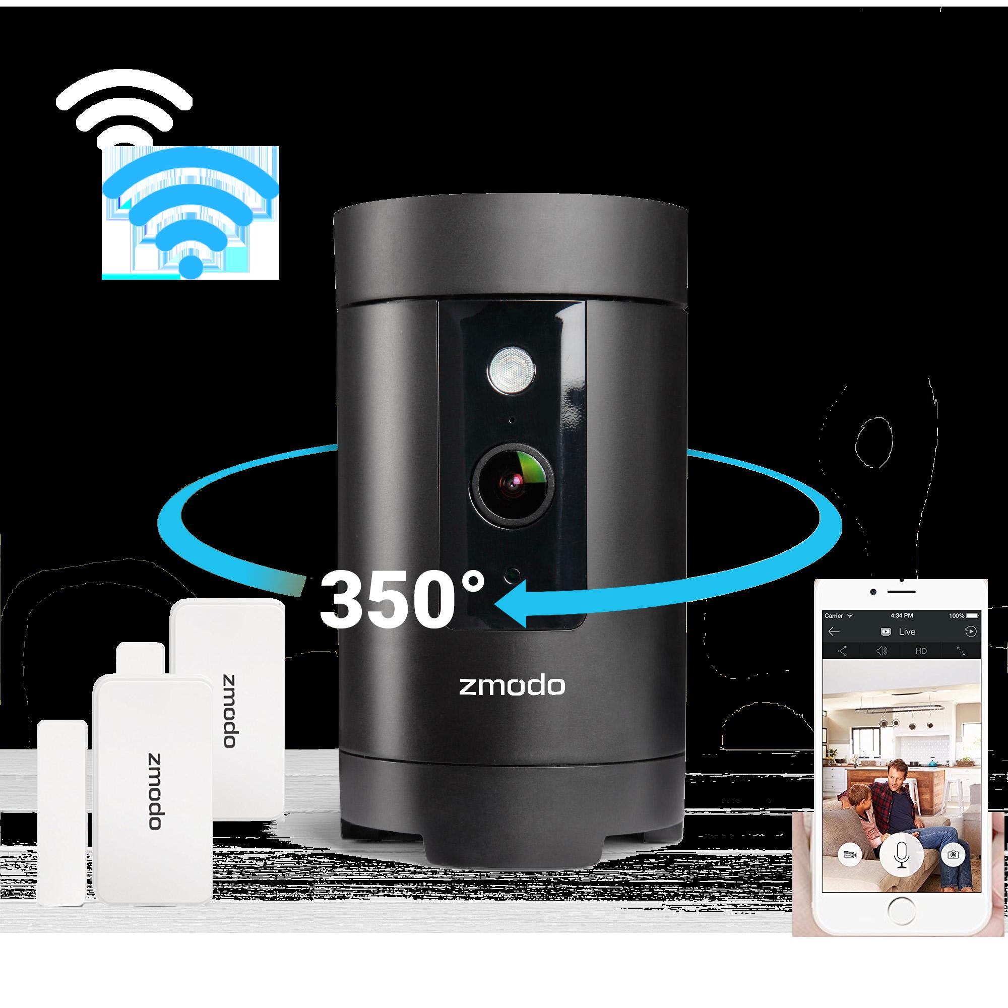 Zmodo Pivot 1080p 360° WiFi Camera with Smarthub and Window