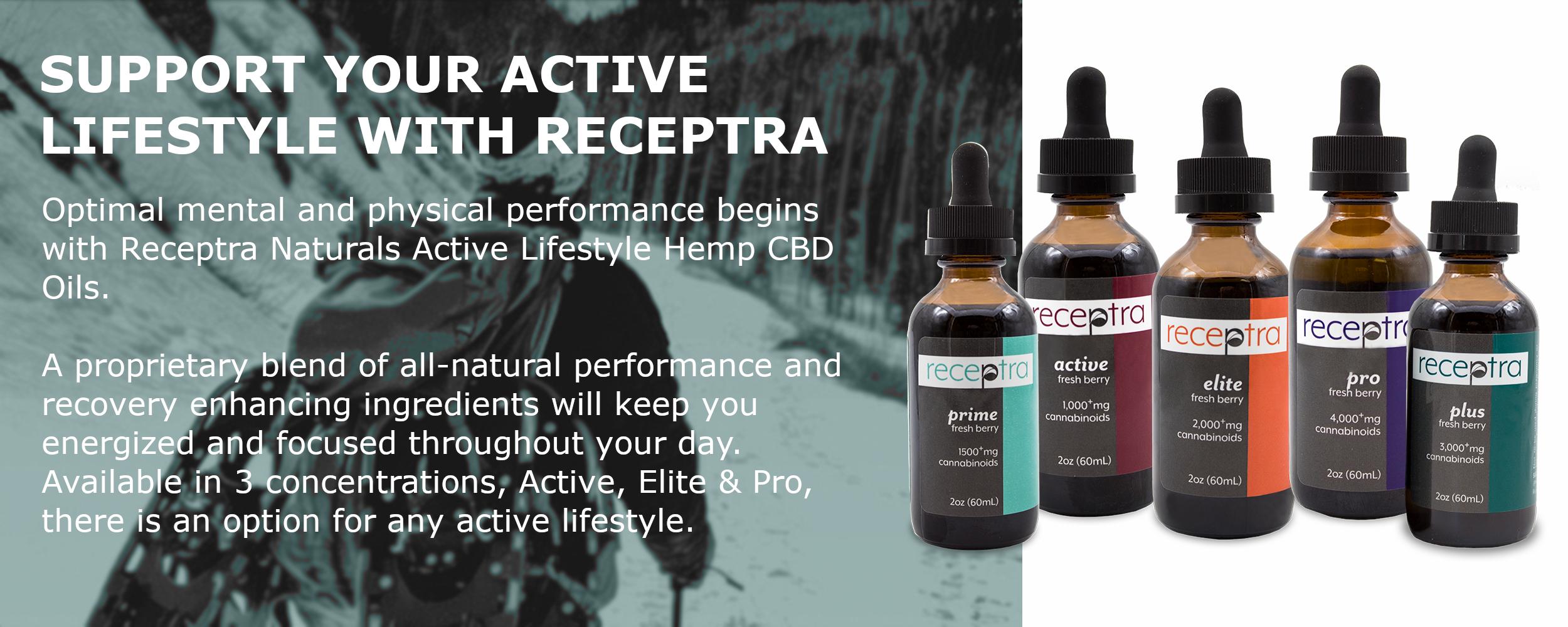 Receptra Naturals Pure Hemp CBD Extracts & Topicals
