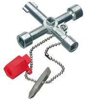 Ключ крестовой 4-лучевой для стандартных шкафов и систем запирания KNIPEX